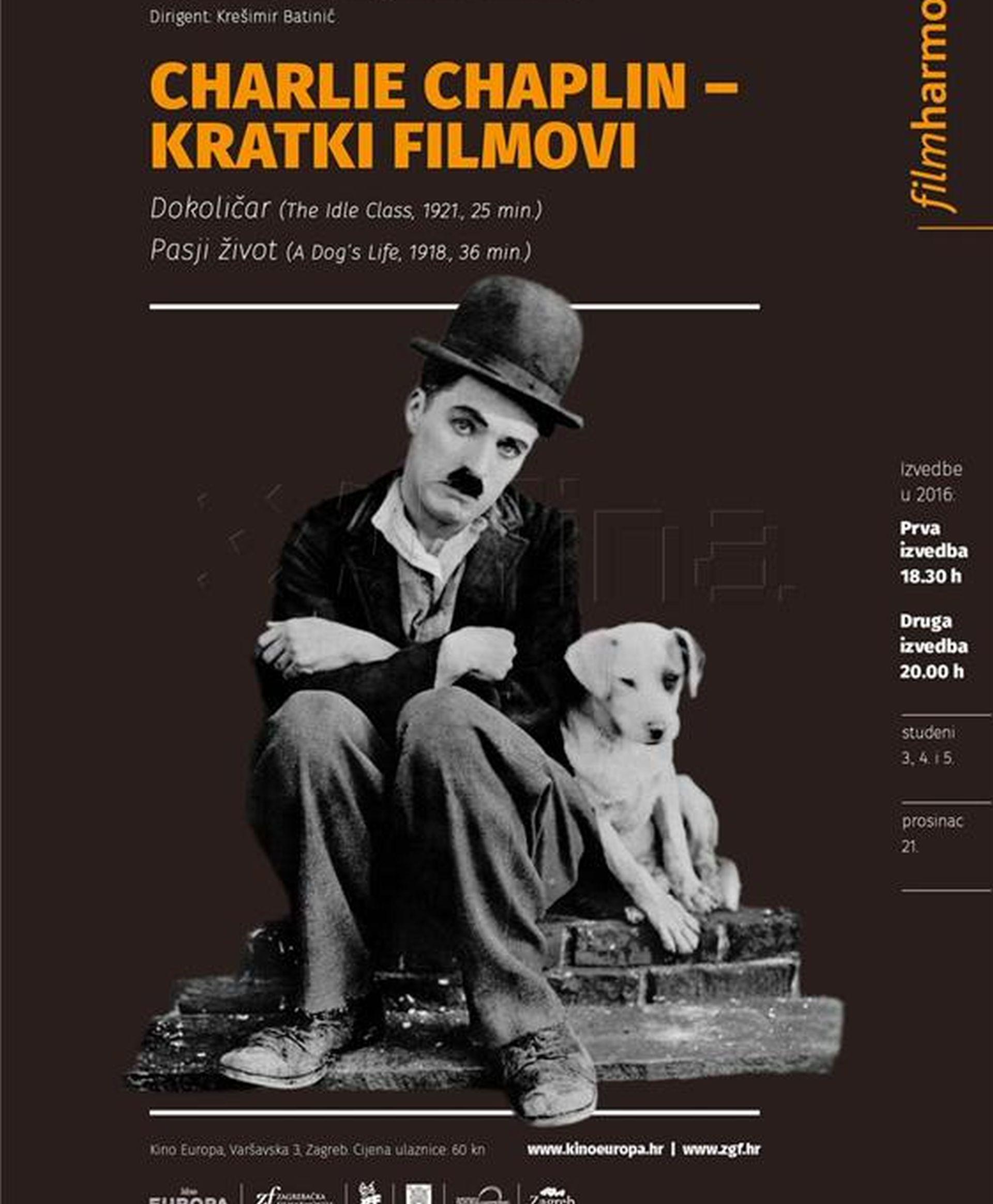 """""""FIL(M)HARMONIJA"""": Charlie Chaplin otvara novu sezonu u kinu Europa"""