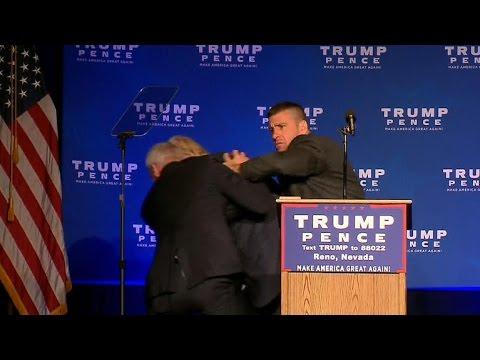 VIDEO Trump evakuiran s pozornice u Nevadi na predizbornom skupu