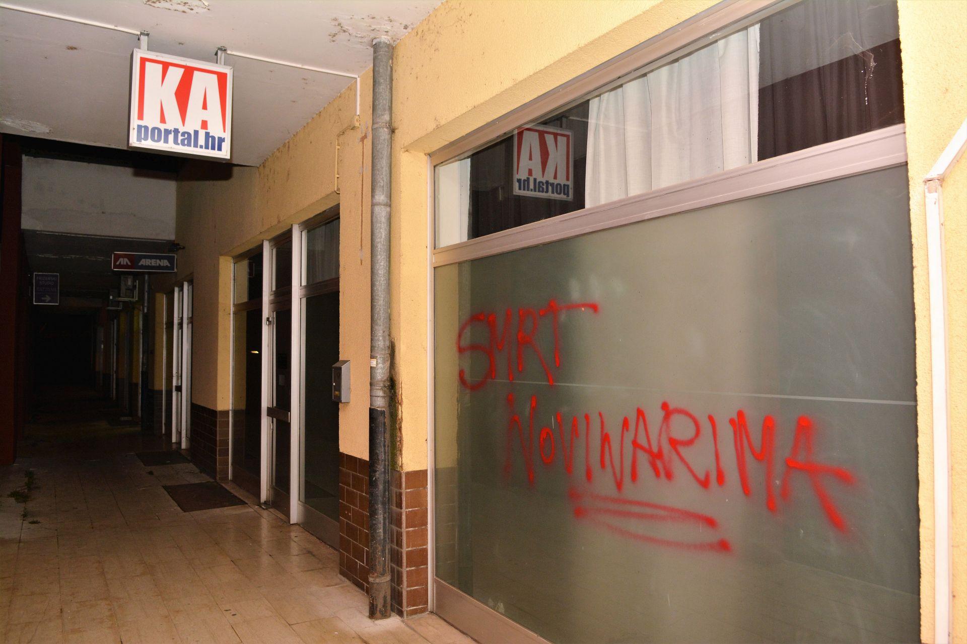 """KARLOVAČKI SDP: Grafit """"smrt novinarima"""" potiče na mržnju i ulijeva strah"""