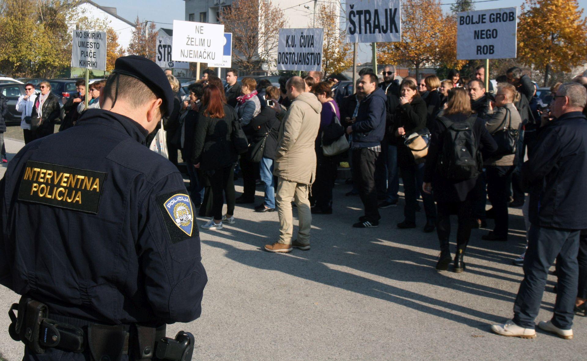 PROSVJED NA MARKOVU TRGU: Zaposlenici SC-a žele zaštititi svoja prava, stigla i interventna