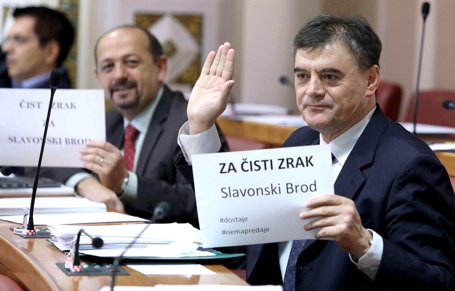 SABOR: Alarmantna situacija zbog zagađenja zraka u Slavonskom Brodu digla zastupnike na noge