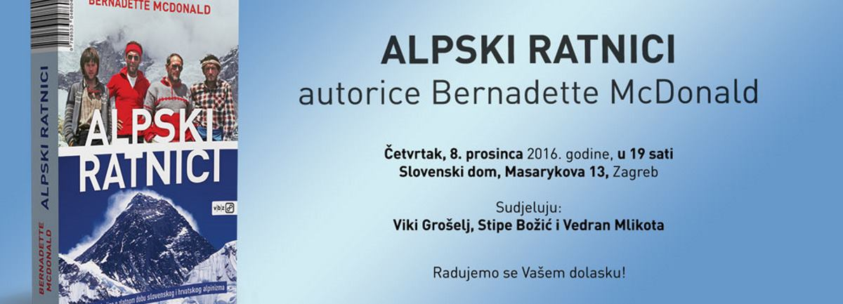 Predstavljanje knjige 'Alpski ratnici' u četvrtak, 8. prosinca u 19 sati