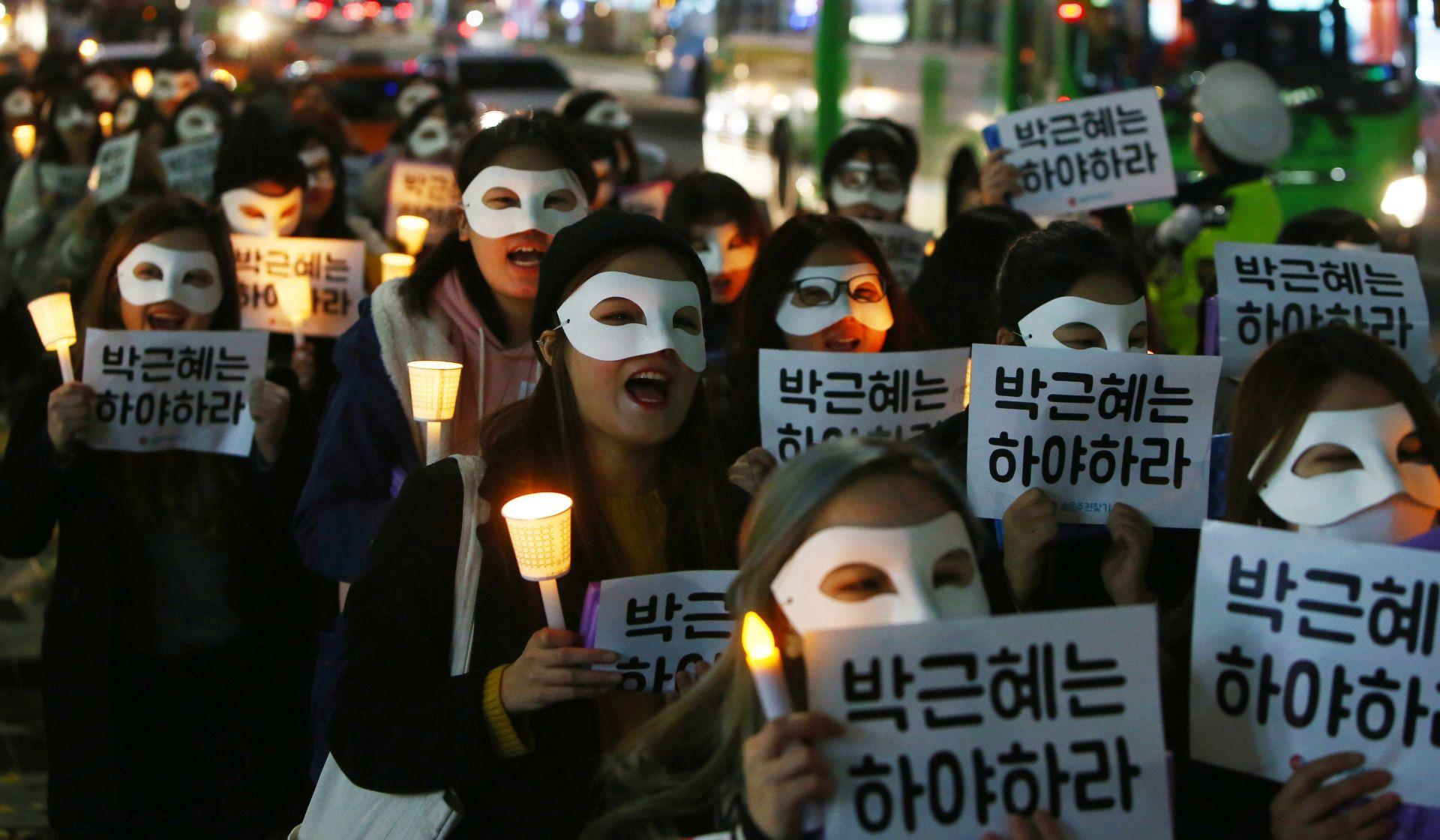 Nastavljeni prosvjedi protiv južnokorejske predsjednice Park