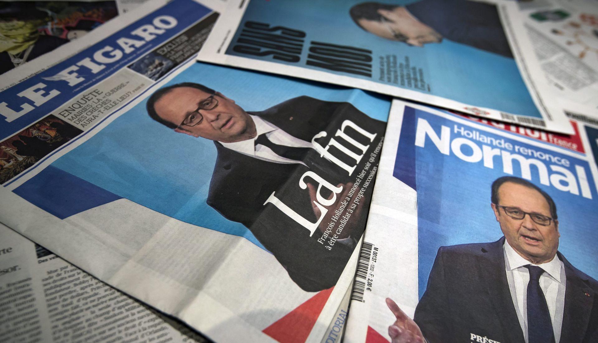 Hollandeov mandat obilježili teroristički napadi, masovni prosvjedi i ljubavni jadi