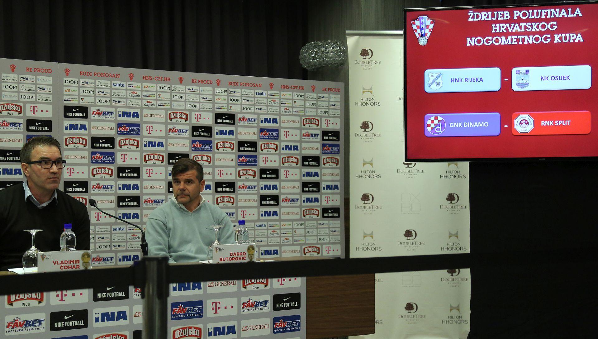 HRVATSKI KUP Dinamo protiv Splita, Rijeka na Osijek