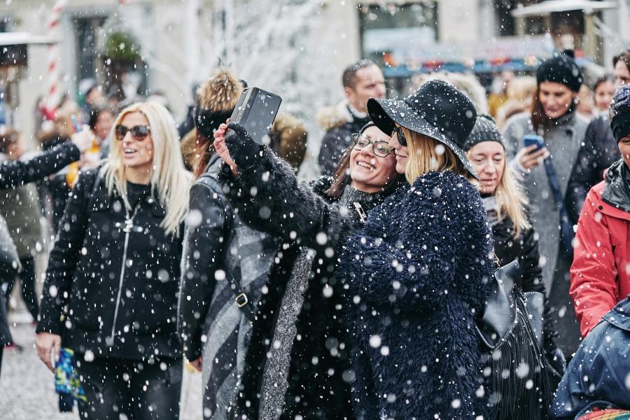 Posjetitelji su uživali na umjetnom snijegu