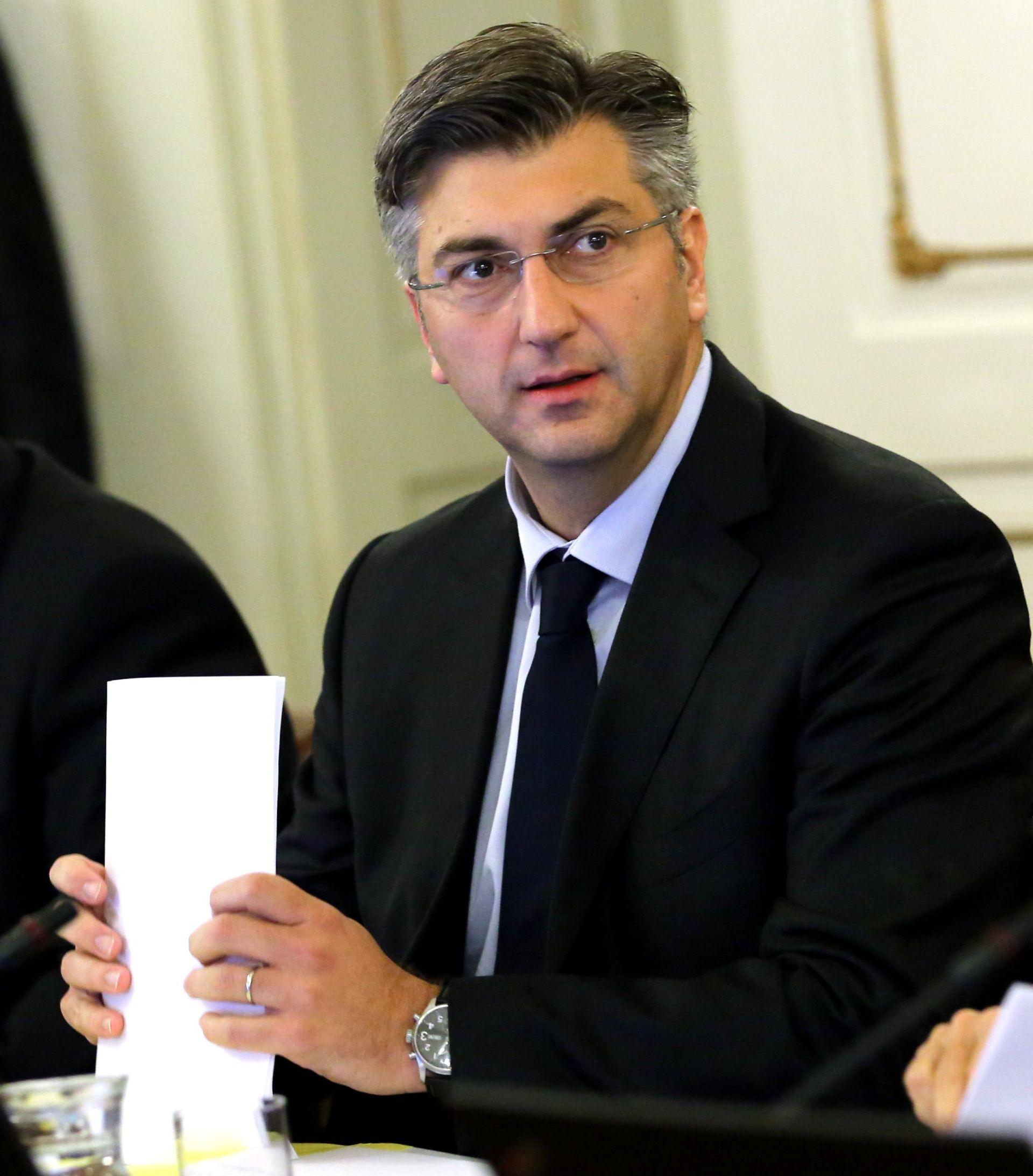 PLENKOVIĆ: 'Vlada će na zatvorenom dijelu sjednice detaljno o INI i odluci Arbitražnog suda'