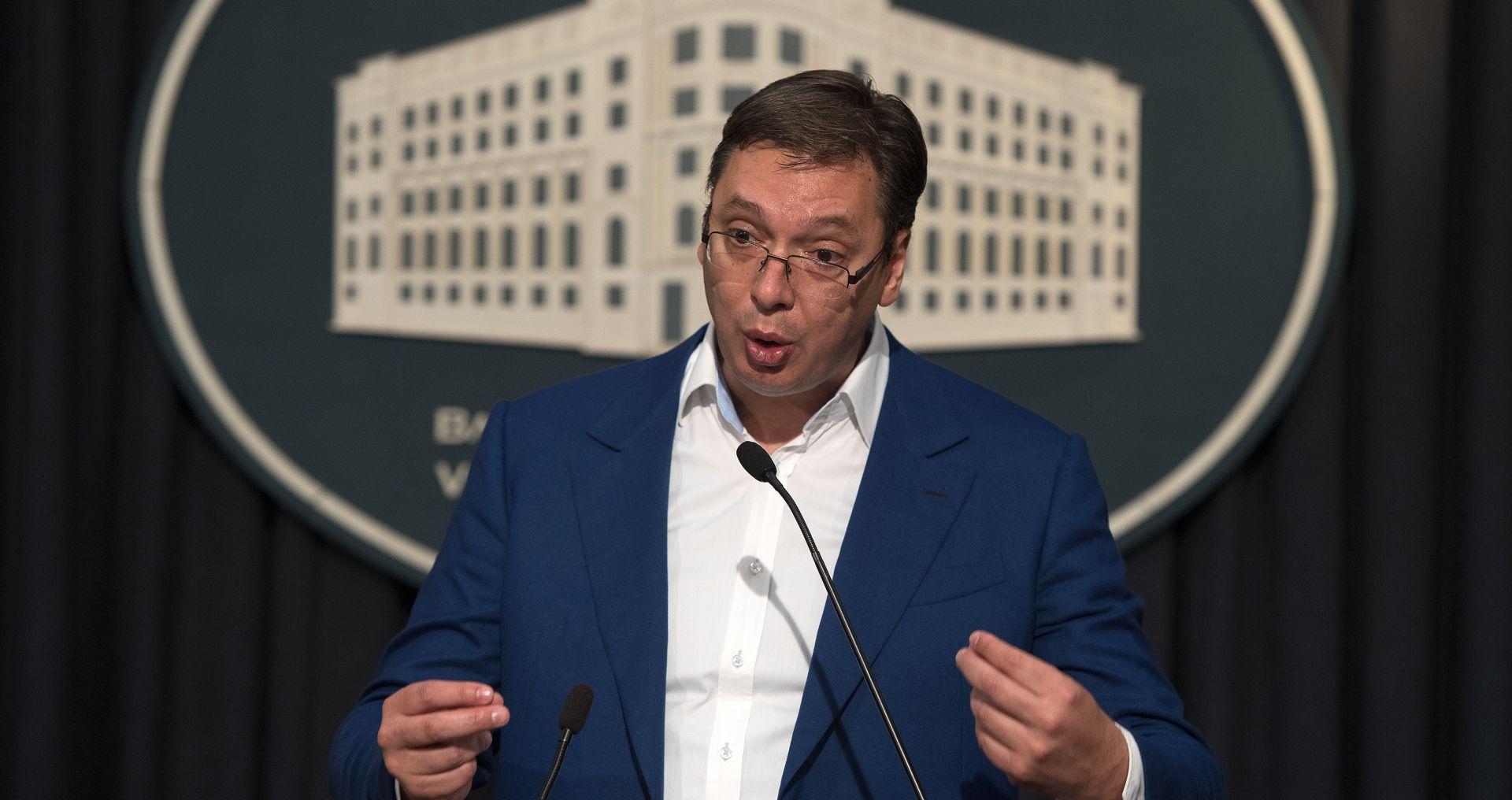 """VUČIĆ """"Srbiju nikada nećete moći gaziti, zgaziti ni ponižavati"""""""