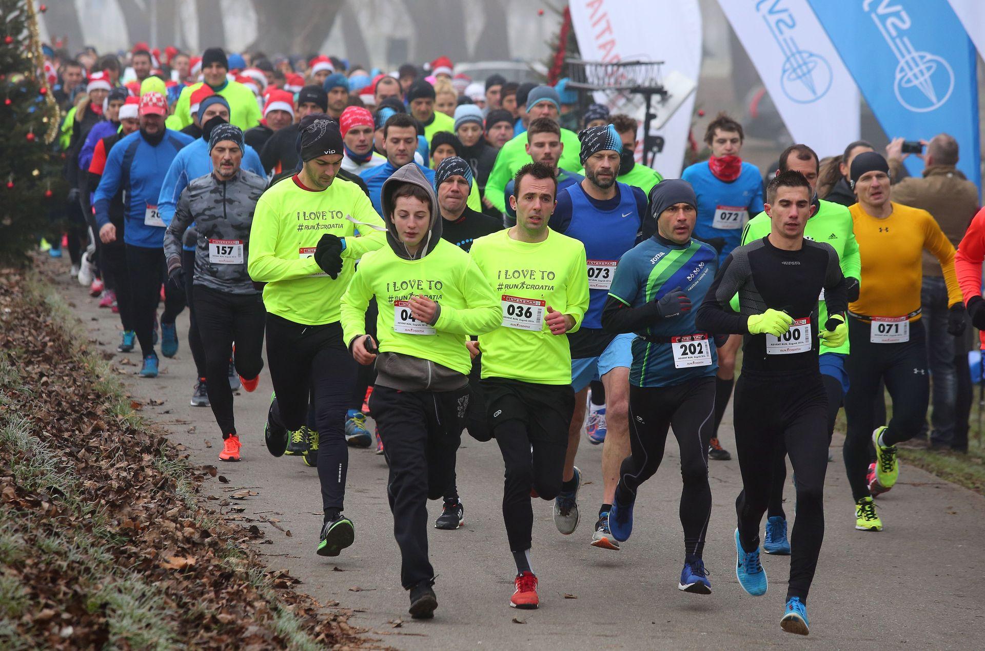 FOTO Fenomenalna atmosfera na međunarodnoj humanitarnoj utrci 'Advent Run, Zagreb 2016.'