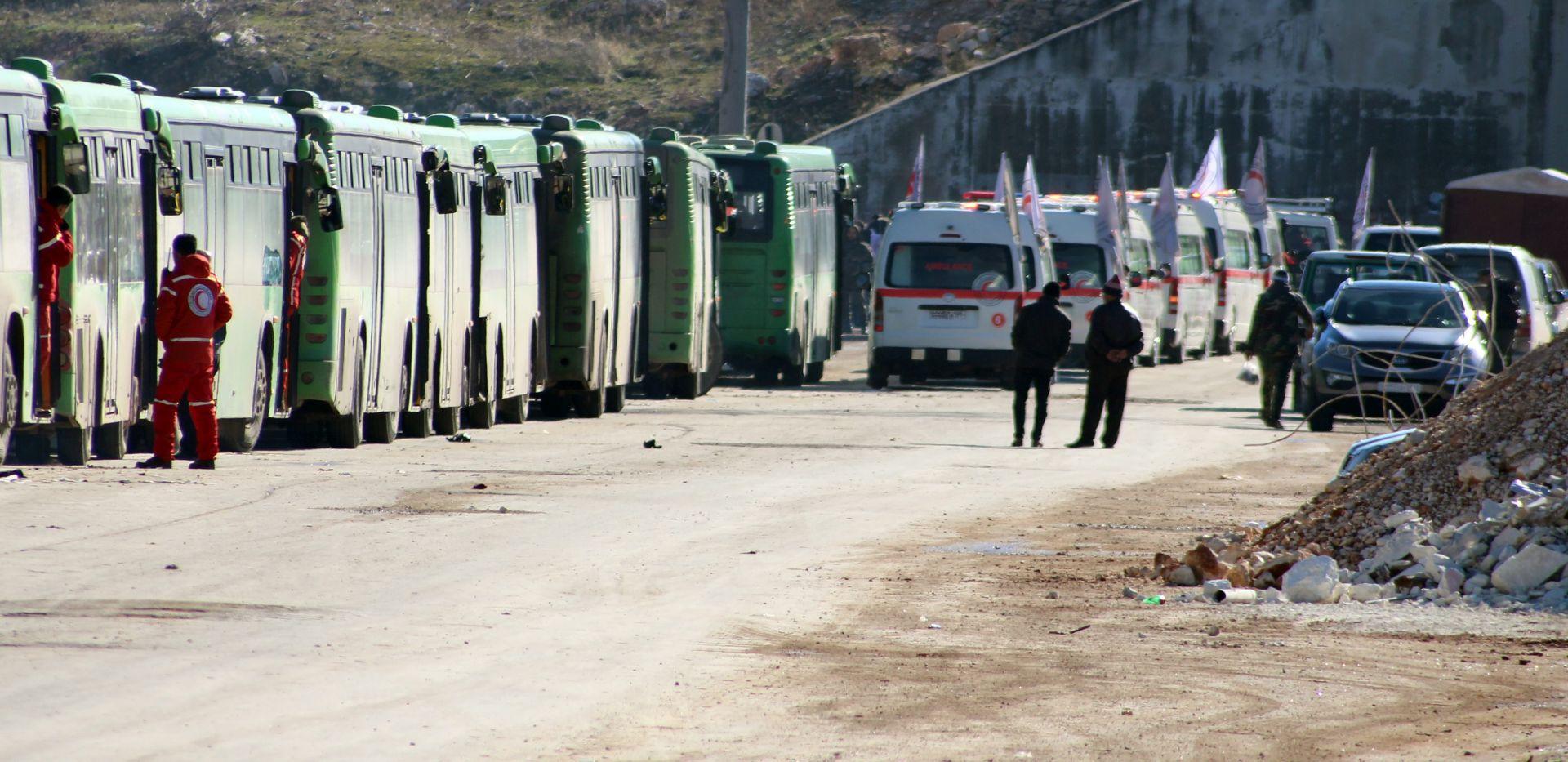 NASTAVAK EVAKUACIJE: Autobusi ulaze u posljednje pobunjeničke dijelove istočnog Alepa