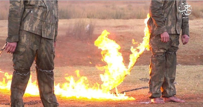 IS emitirao video snimku na kojoj spaljuje dva turska vojnika
