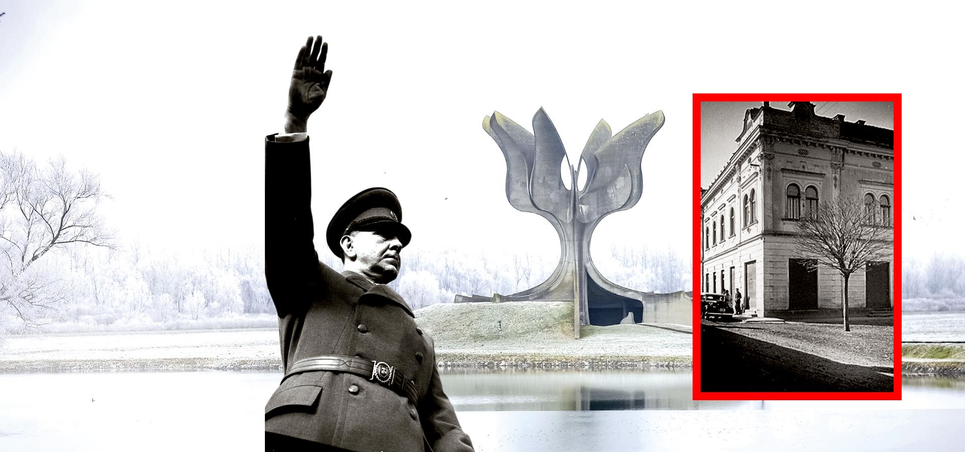 EKSKLUZIVNO 'SPOMEN-PLOČA HOS-a na mjestu je Luburićeva stožera logora Jasenovac'