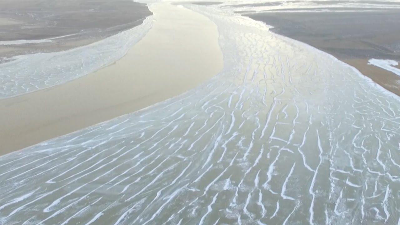 VIDEO: Pogled na zamrznutu Žutu rijeku