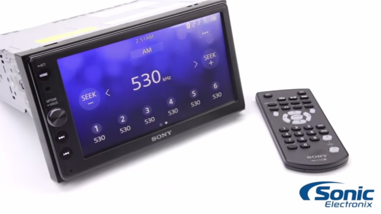 VIDEO: Sony XAV-AX100 in-dash car stereo system