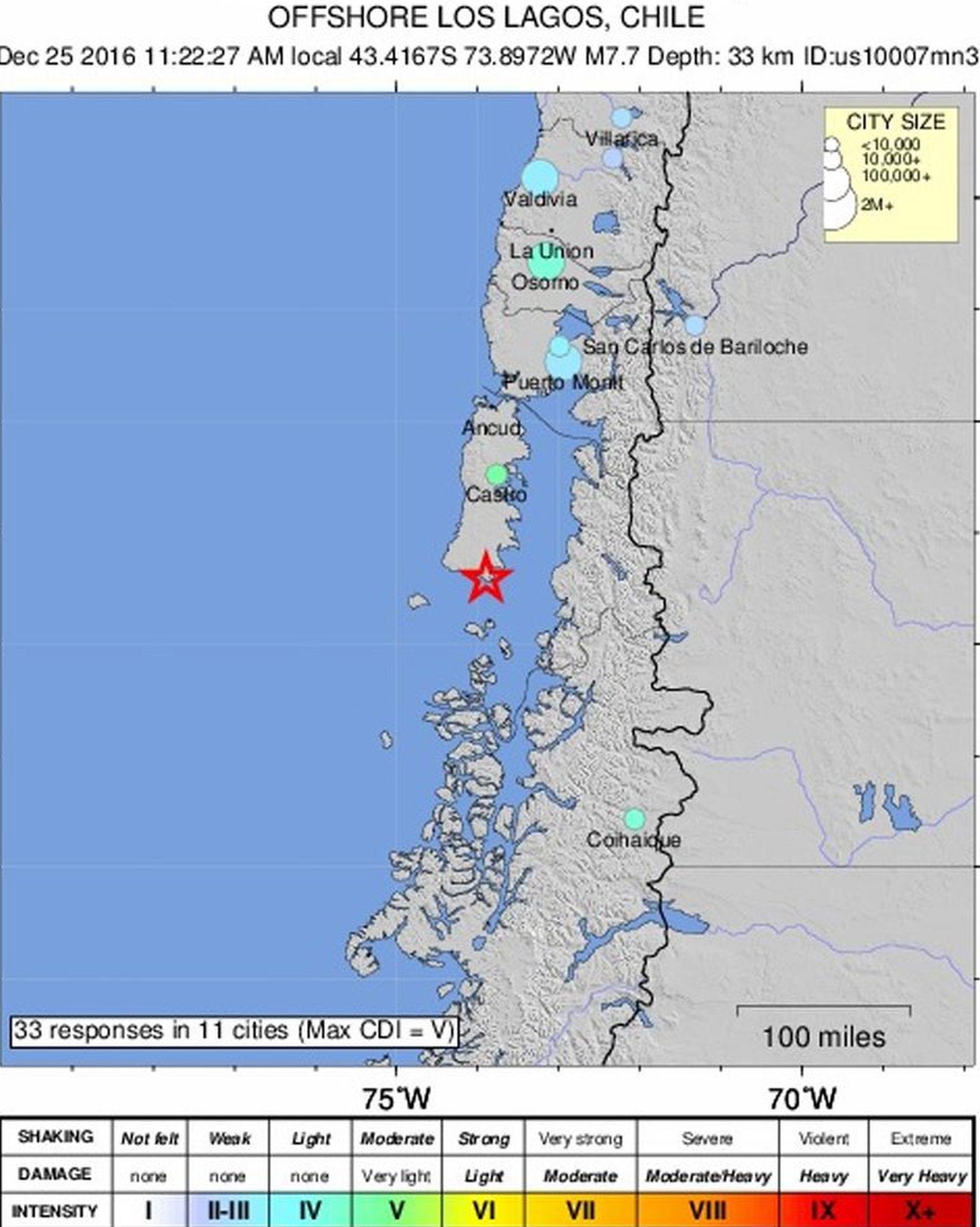 Jaki potres u Čileu nije prouzročio ozbiljnu štetu