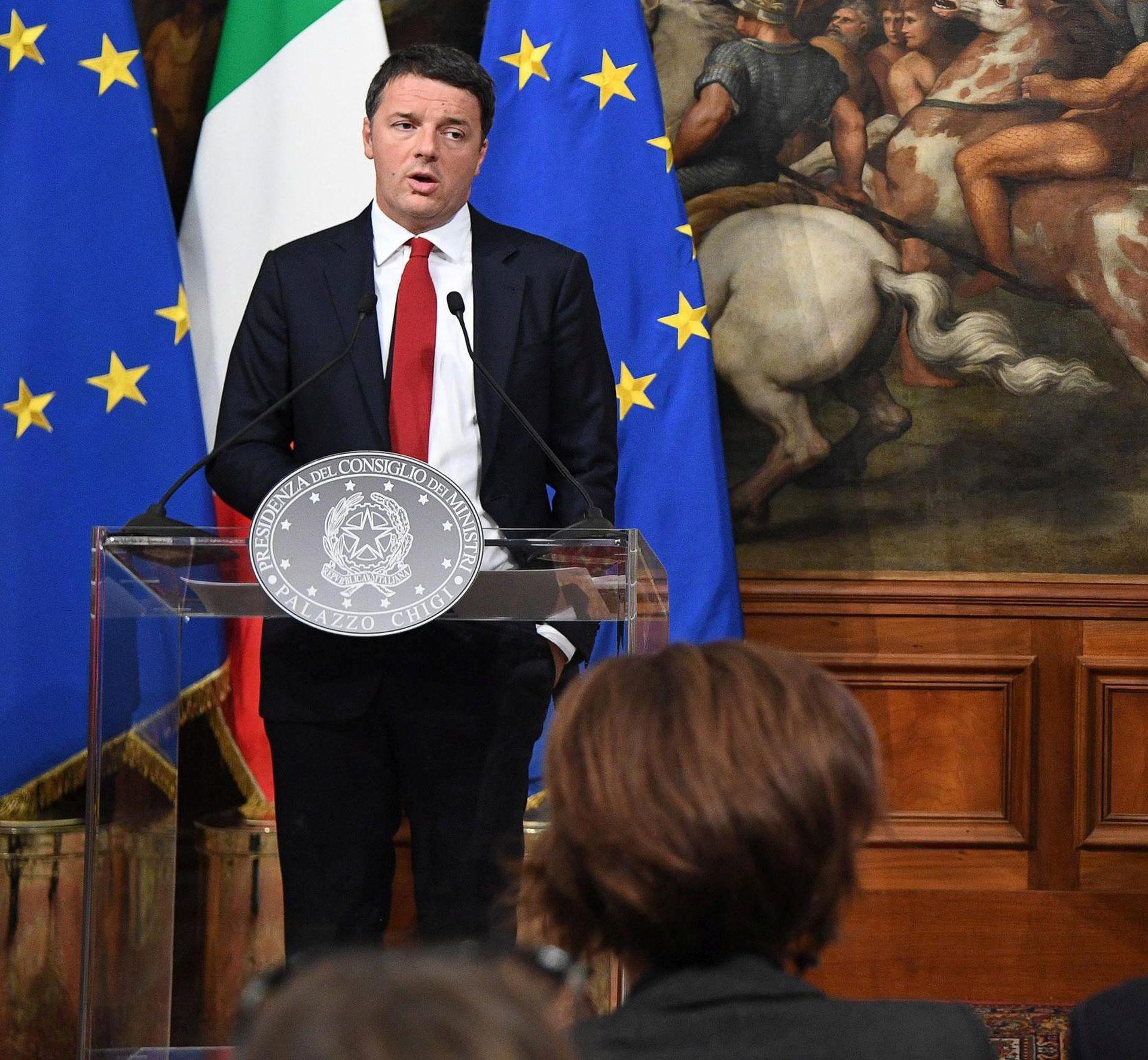 PORAZ NA REFERENDUMU Renzi: 'Preuzimam punu odgovornost i podnijet ću ostavku'