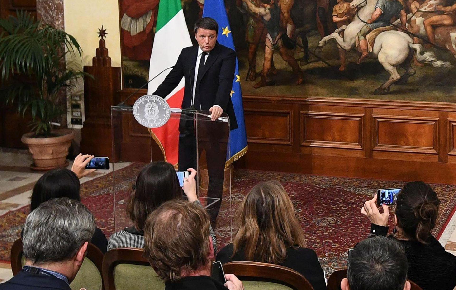 PORAZ NA REFERENDUMU: Renzi odlazi nakon što bude usvojen proračun za 2017.