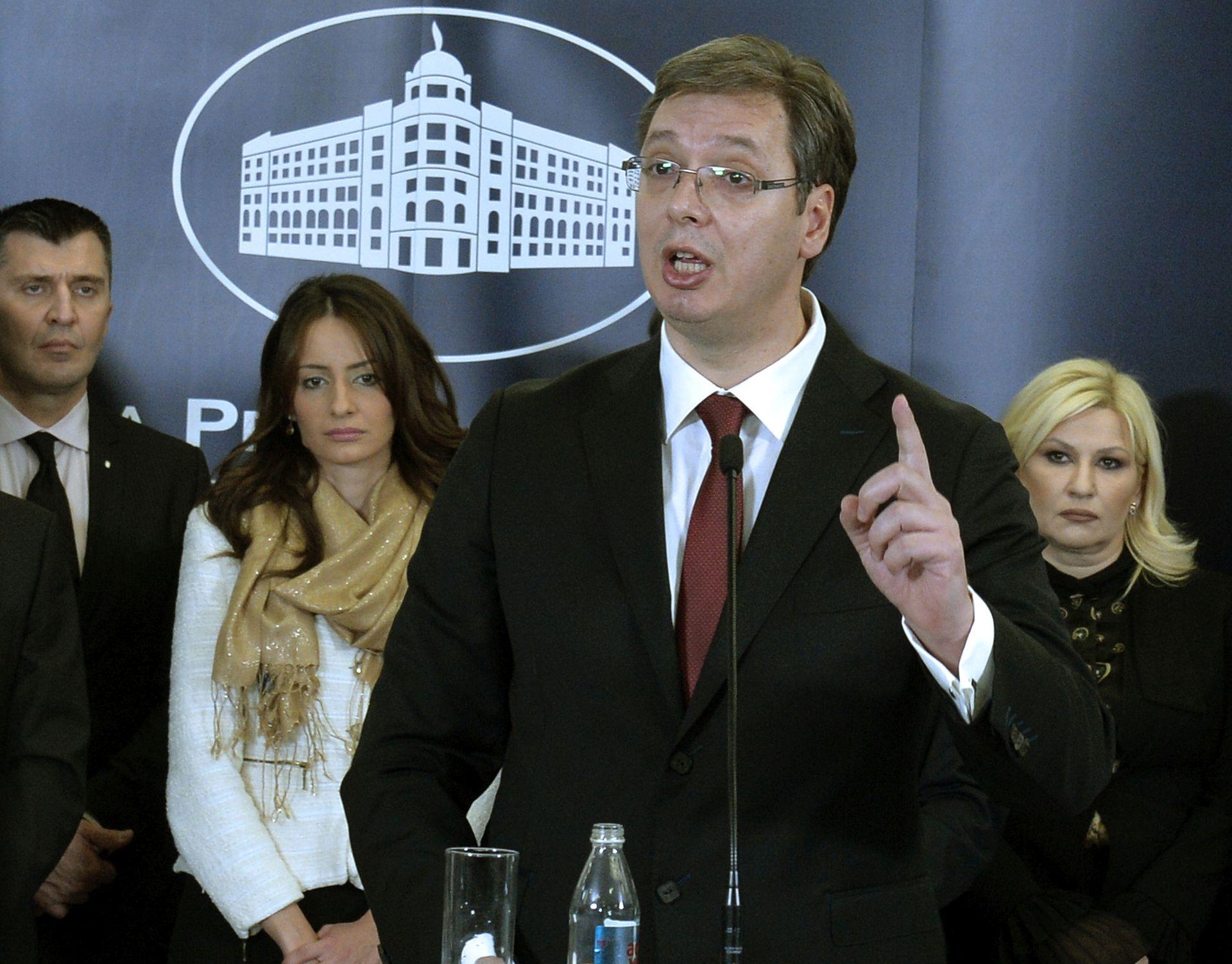 VUČIĆ PRIJETI BOJKOTOM: Neće nazočiti konferenciji s EU-om ako Hrvatska nastavi blokadu