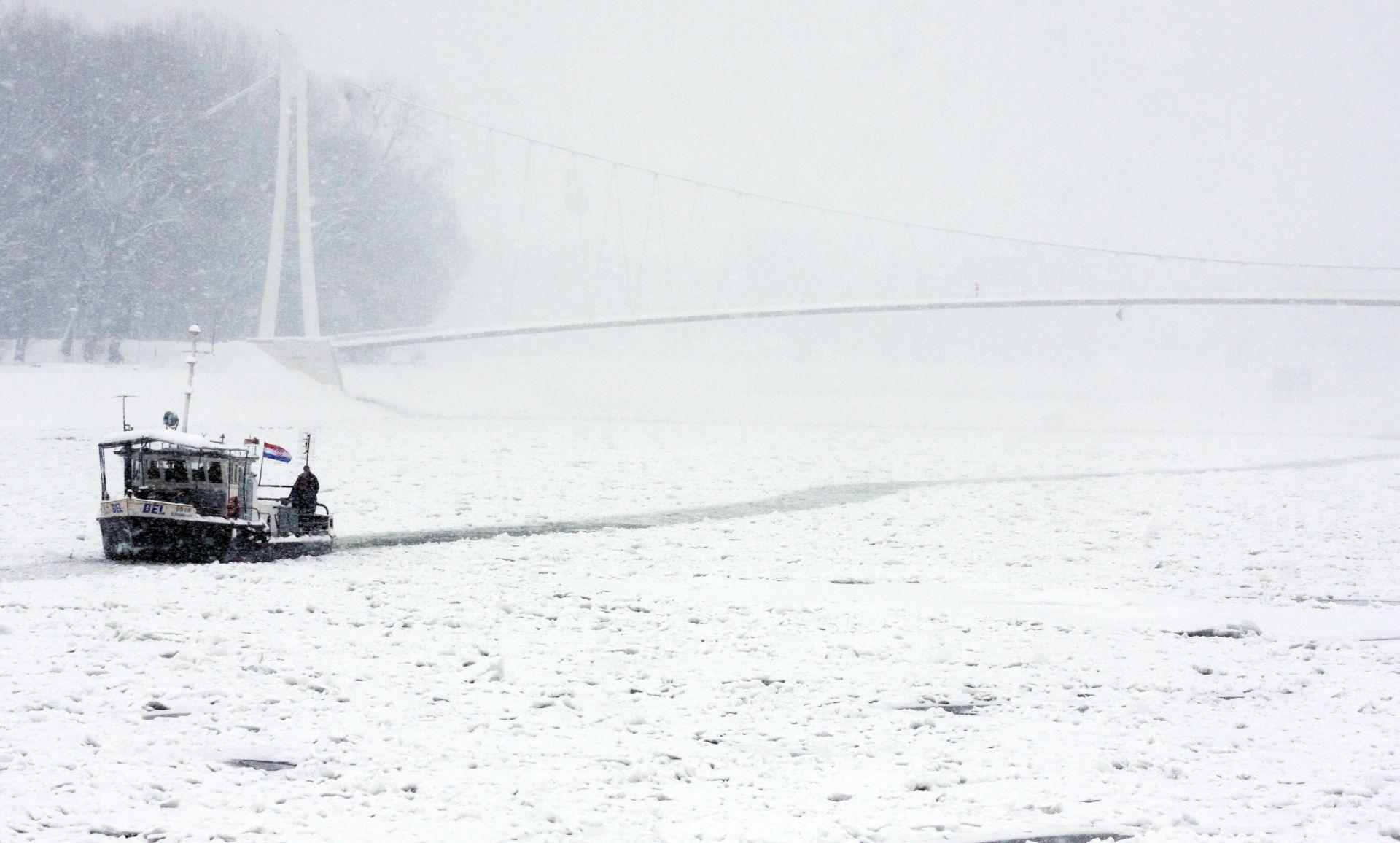 U Osijeku u nedjelju ujutro izmjereno minus 18 stupnjeva