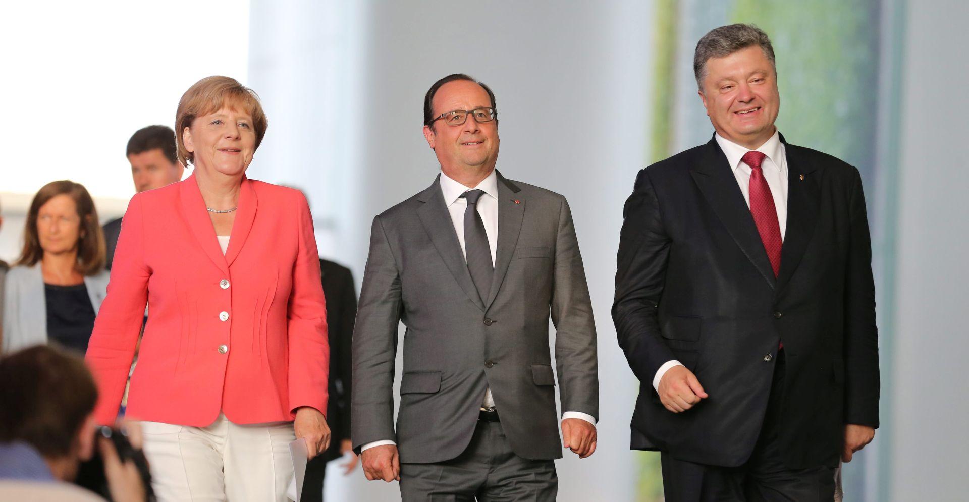Hollande, Merkel i Porošenko razgovarali o sporazumu iz Minska