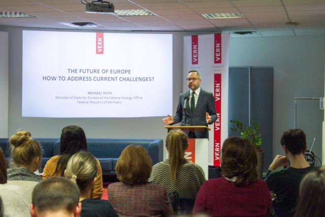 Fwd_ Veleuciliste VERN - Njemacki ministar Michael Roth odrzao izlaganje o izazovima Europe - objava za medije