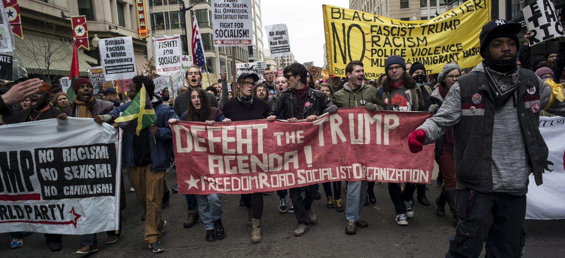 WASHINGTON Policija uhitila gotovo 100 prosvjednika