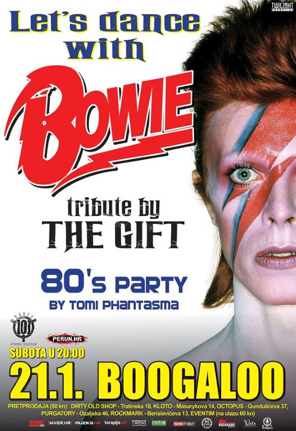 Let's Dance with Bowie - Tribute by The Gift - 21.01.2017. - plakat