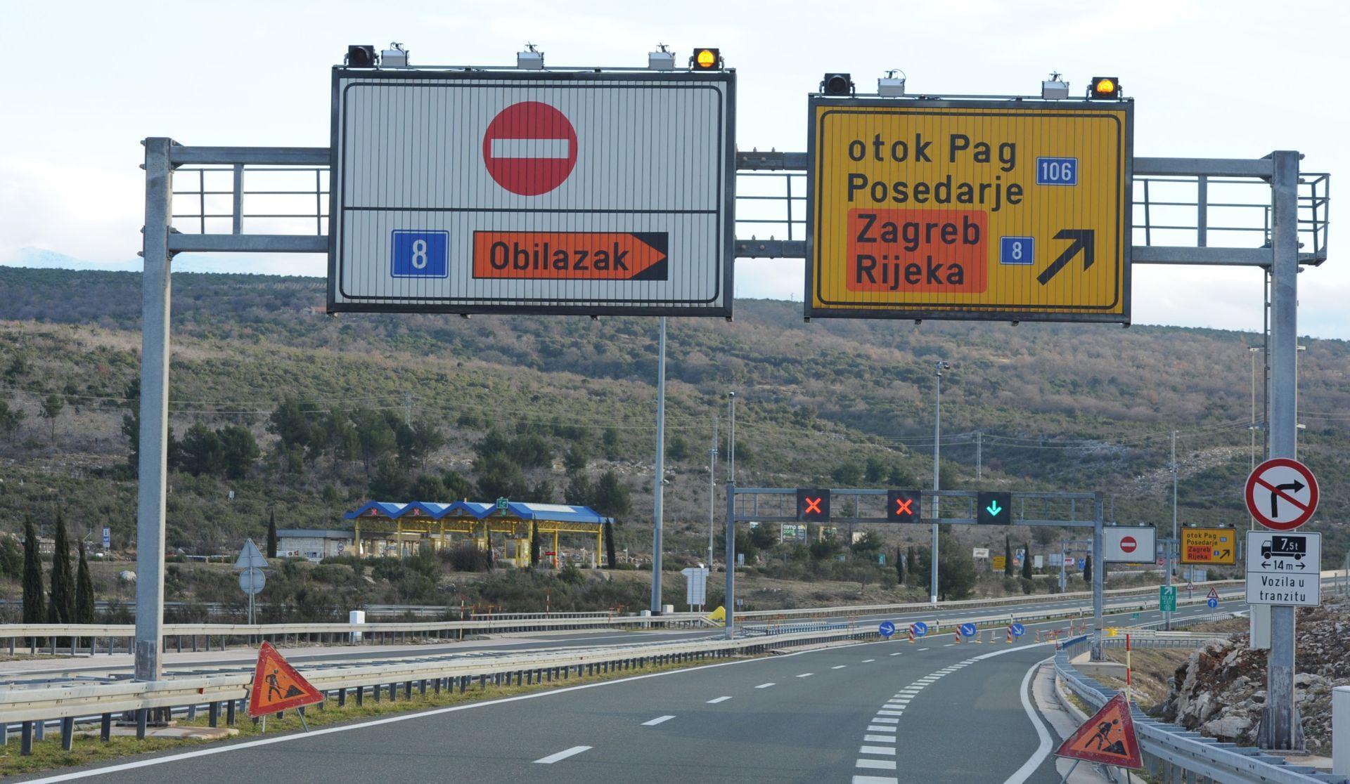 HAK Jak vjetar zatvorio više cesta