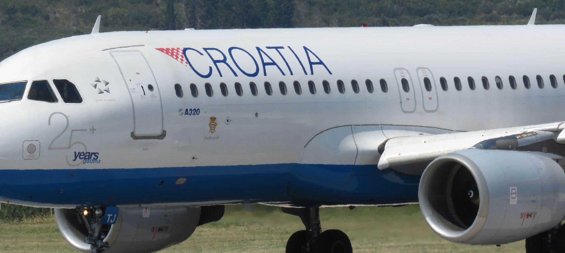 Zrakoplov Croatia Airlinesa preusmjeren u Frankfurt zbog indikacije dima u WC-u