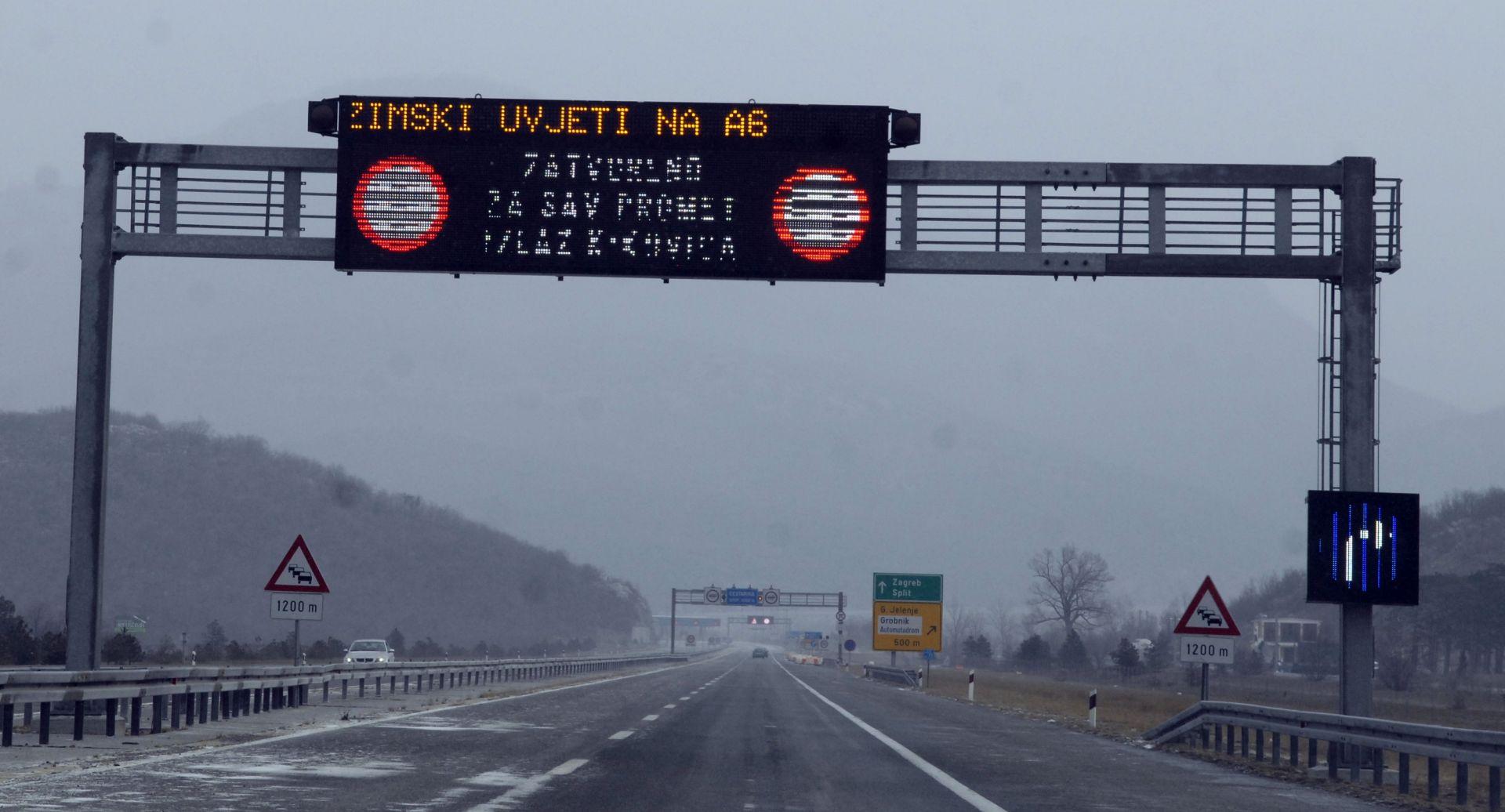 HAK Jak vjetar na autocesti A1, ograničenje brzine