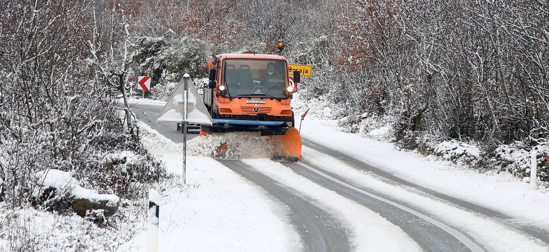 HAK Zimski uvjeti na cestama, A1 i A6 prohodne za sve skupine vozila