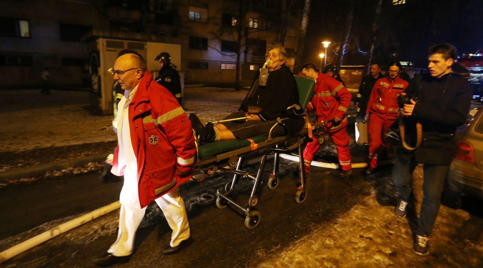 Gorio stan u Folnegovićevom naselju, jedna osoba ozlijeđena