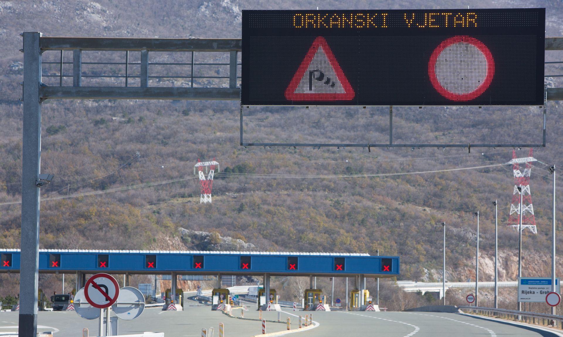 HAK Zbog vjetra ograničenja u cestovnom i brodskom prometu