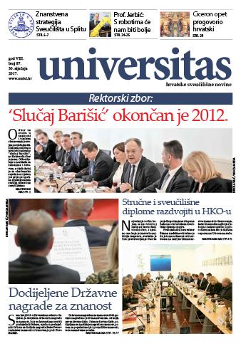 Sveučilišne novine kao Barišićev bilten