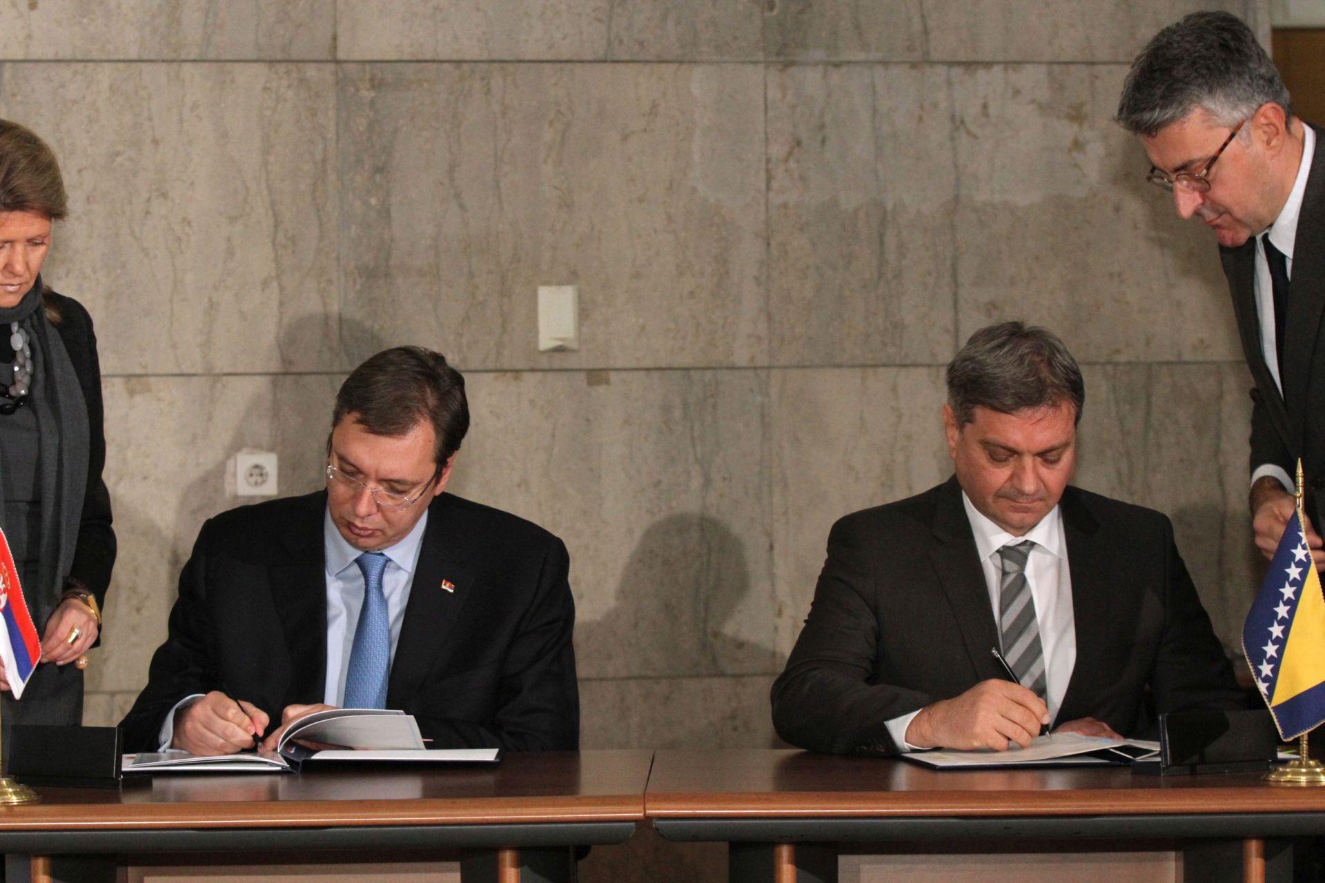 BOLJA SURADNJA: Srbija i BiH opredijeljene za poboljšanje gospodarskih odnosa