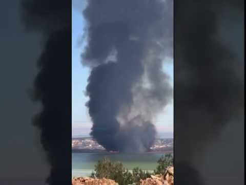 VIDEO Požar u ornitološkom rezervatu u parku prirode Vransko jezero