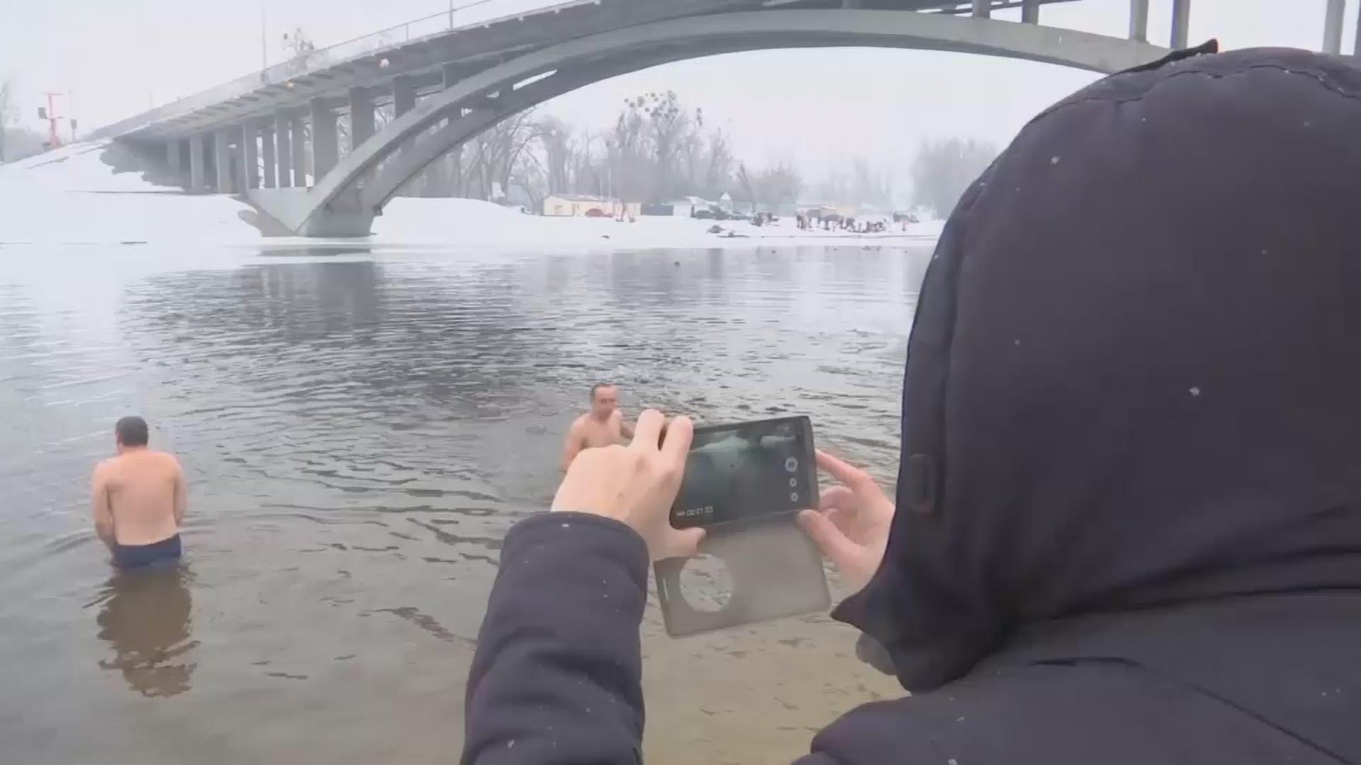 VIDEO: Pravoslavni vjernici obilježavaju blagdan Bogojavljanja