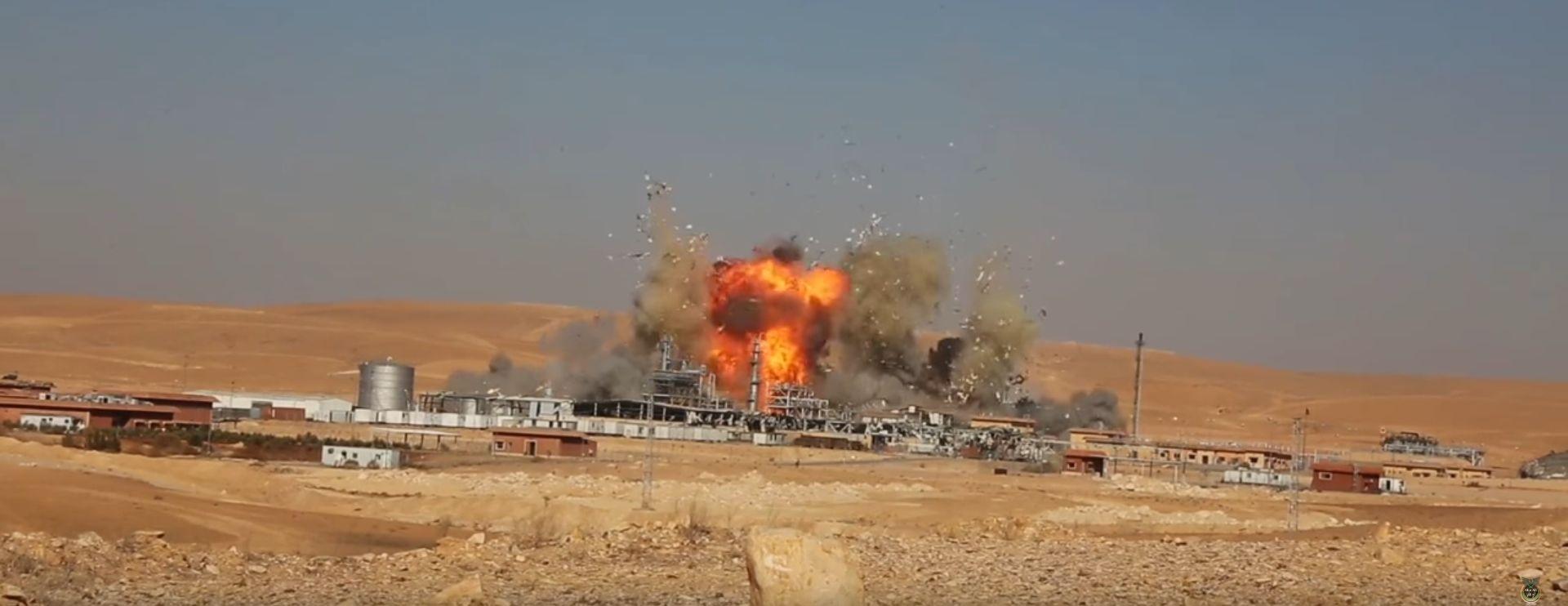 VIDEO: HAYAN Teroristi Islamske države digli u zrak INA-ino postrojenje u Siriji?