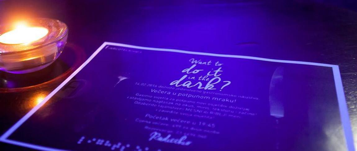 FOTO: ARCOTEL ALLEGRA Održana prva Večera u potpunoj tami
