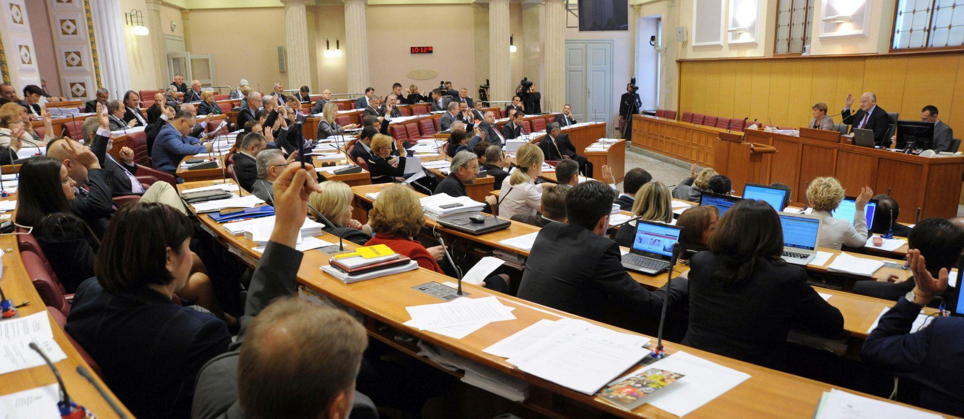 Sabor rad u srijedu nastavlja glasovanjem