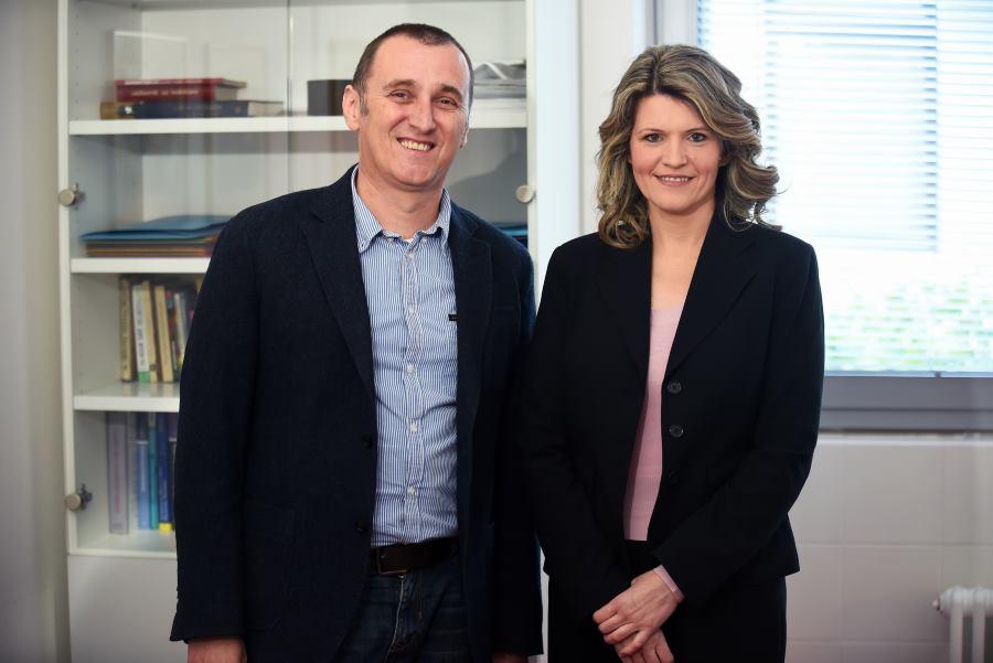 Hrvoje Handl, dr. med. spec. psihijatar i Jelena Balabanić Mavrović, predsjednica Centra BEA