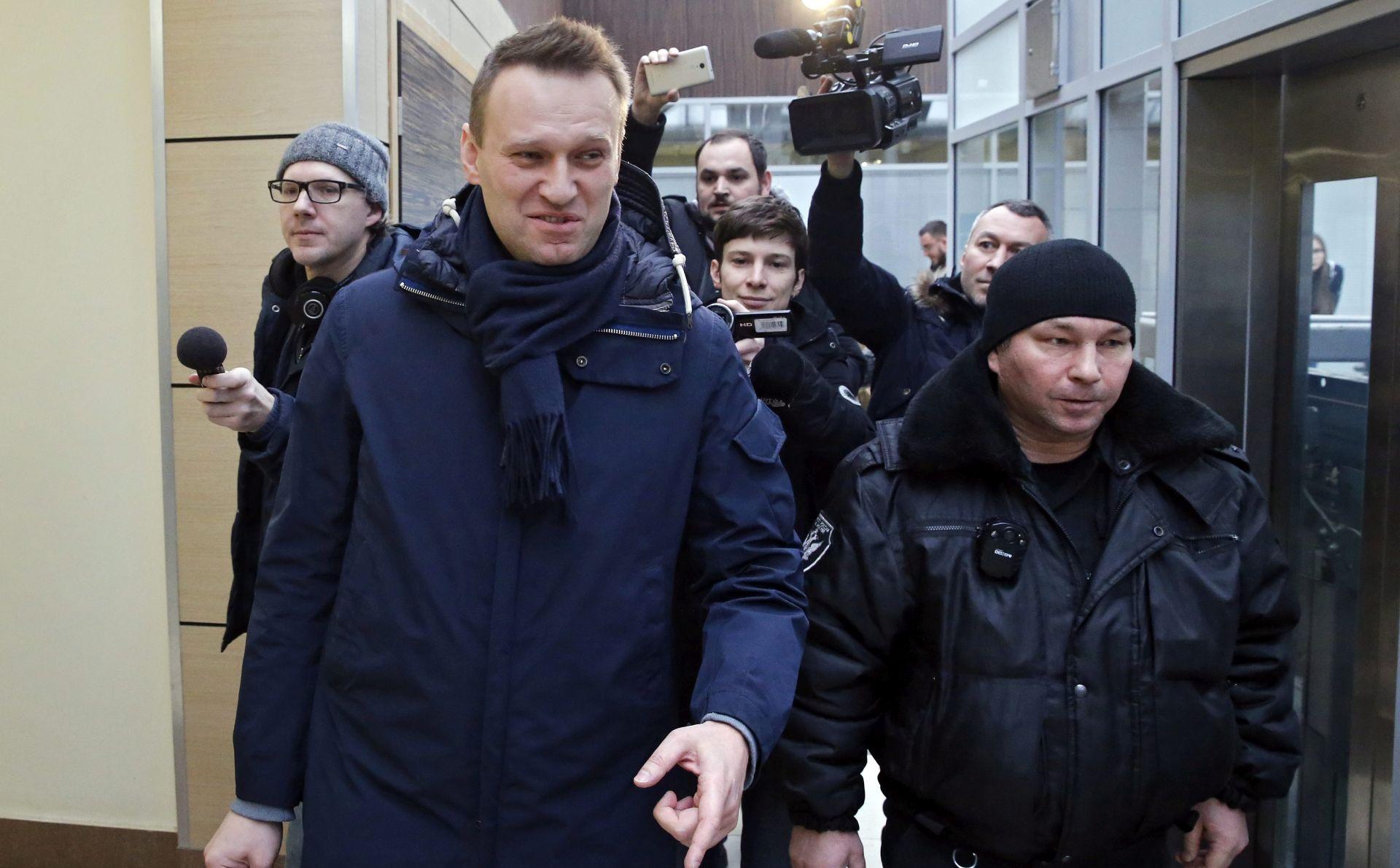 Rusija traži uvjetnu kaznu za oporbenog vođu Alekseja Navalnoga