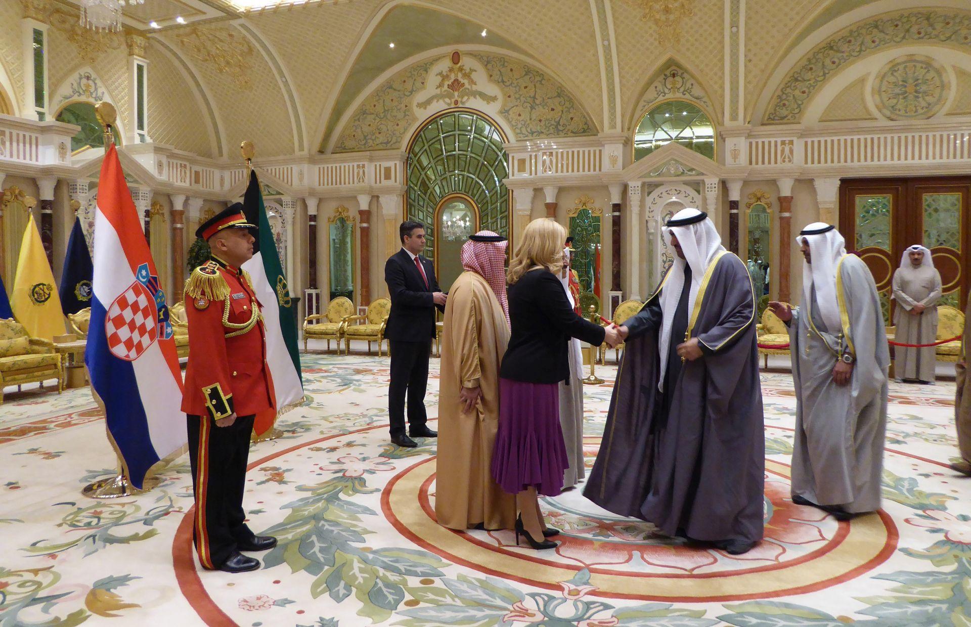 Kolinda u dvodnevnom državnom posjetu Kuvajtu