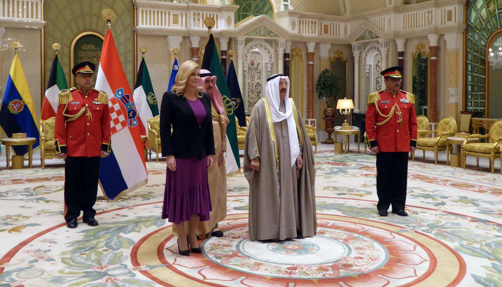 Grabar-Kitarović ocijenila da postoje veliki potencijali za gospodarsku suradnju Hrvatske i Kuvajta