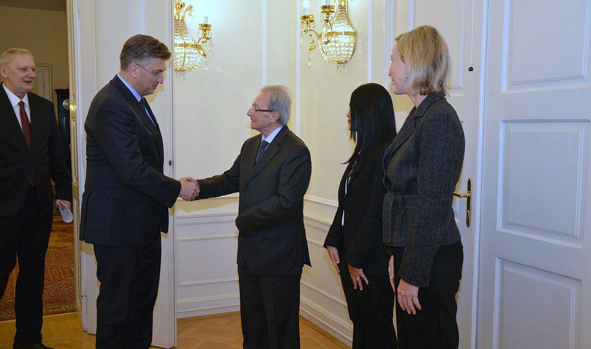 Plenković razgovarao s predsjednikom Međunarodnog kaznenog suda za bivšu Jugoslaviju