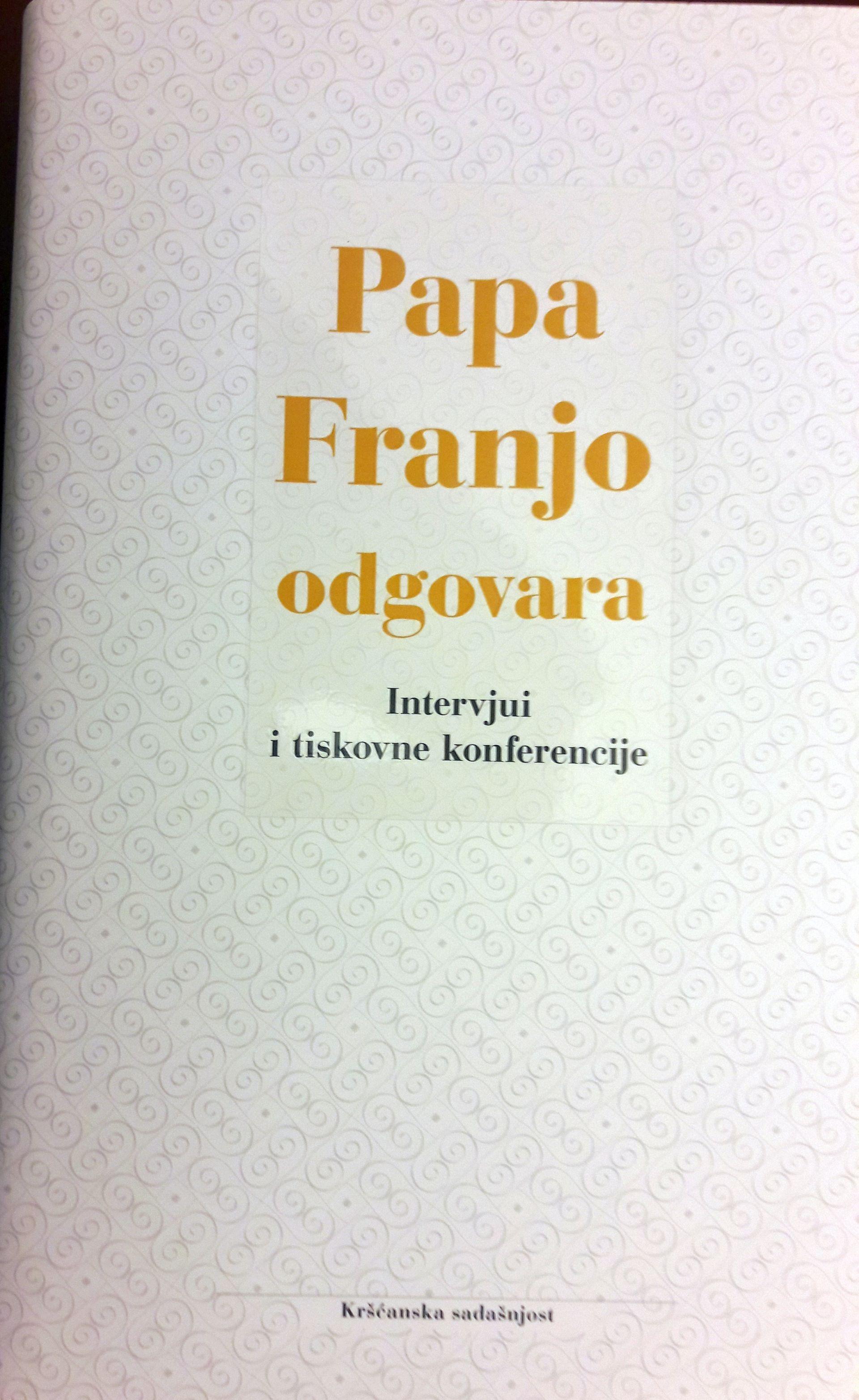 Predstavljena knjiga 'Papa Franjo odgovara'