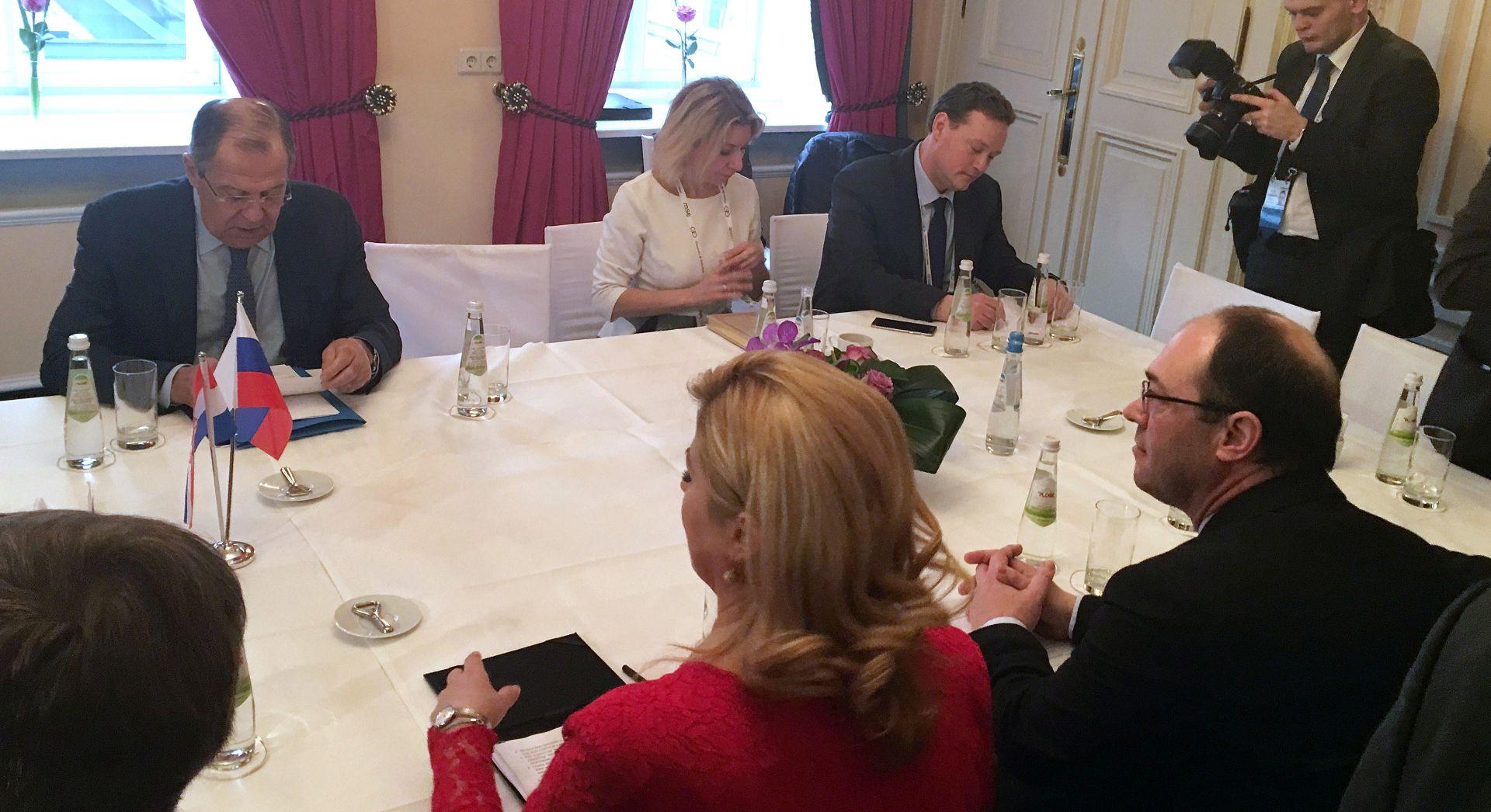 Predsjednica kaže da Lavrov cijeni njezinu iskrenost o ulozi Rusije na JI Europe