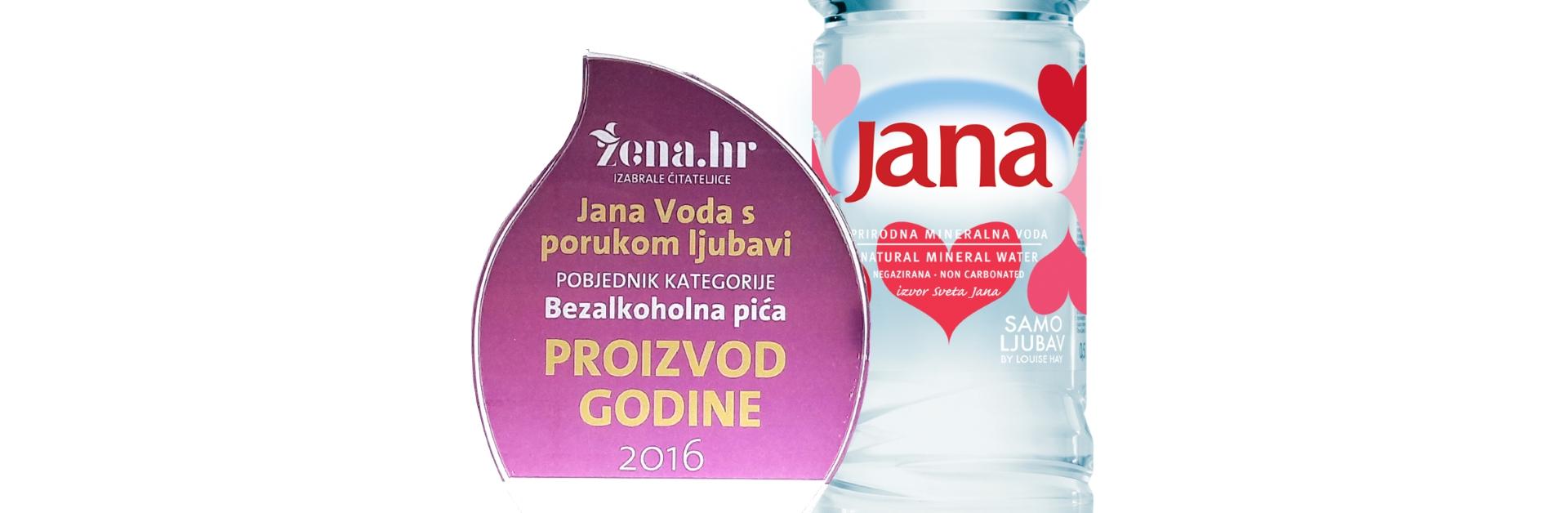 Jana Voda s porukom ljubavi je proizvod godine u kategoriji bezalkoholnih pića