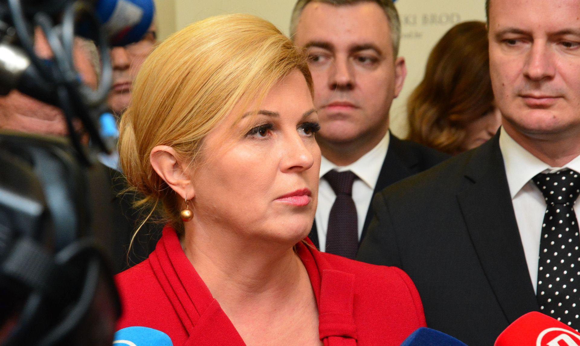 Grabar-Kitarović poziva političare u BiH da važne odluke donose institucionalno