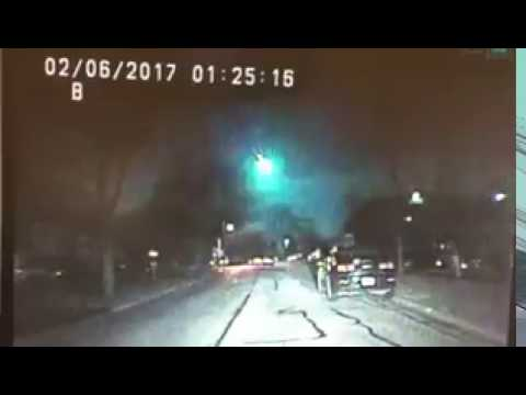 VIDEO: Pad meteora uhvaćen policijskom kamerom iznad jezera Michigan